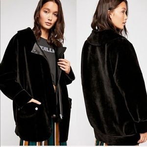 Free People Lindsay Faux Sherpa Faux Leather Coat